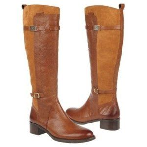 Etienne Aigner Colton Banana Bread Leather Boot